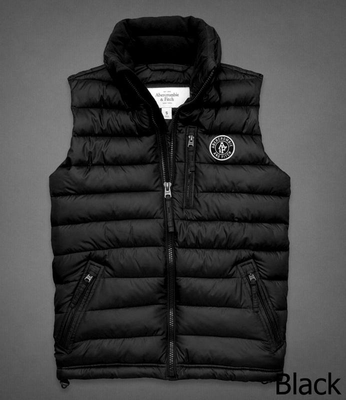 ◆【新品】アバクロ【Mensメンズ】クリマフィル キルティングベスト/Black【Jay Range Packable Puffer Vest】【Abercrombie&Fitch】【本物保証】
