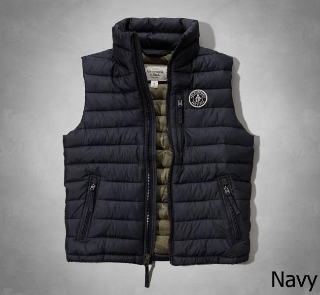 ◆【新品】アバクロ【Mensメンズ】クリマフィル キルティングベスト/Navy【Jay Range Packable Puffer Vest】【Abercrombie&Fitch】【本物保証】