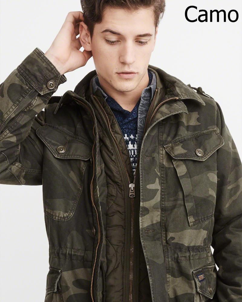 【新品】アバクロ【Mensメンズ】ミリタリーフィールドジャケット/Camo【Military Field Jacket】【Abercrombie&Fitch】【本物保証】