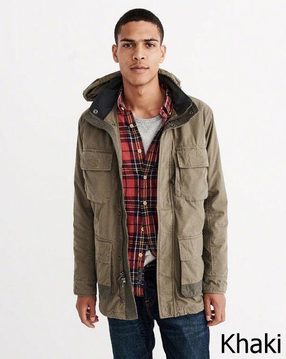 【新品】アバクロ【Mensメンズ】ミリタリージャケット/Khaki【Premium Utility Jacket】【Abercrombie&Fitch】【本物保証】