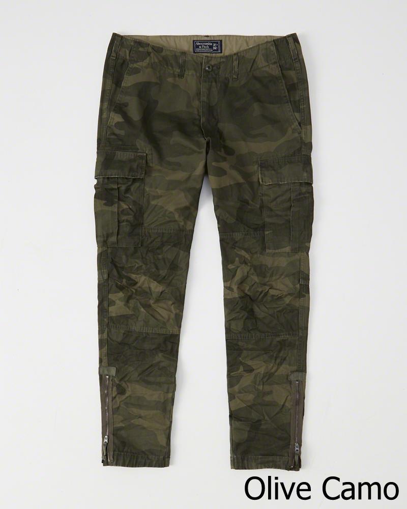 年末年始大決算 正規直営店より直接買い付け Abercrombie Fitch アバクロンビー フィッチ スリムカーゴパンツ Athletic Slim Pants 新品 Camo Olive Cargo Green メンズ 内祝い