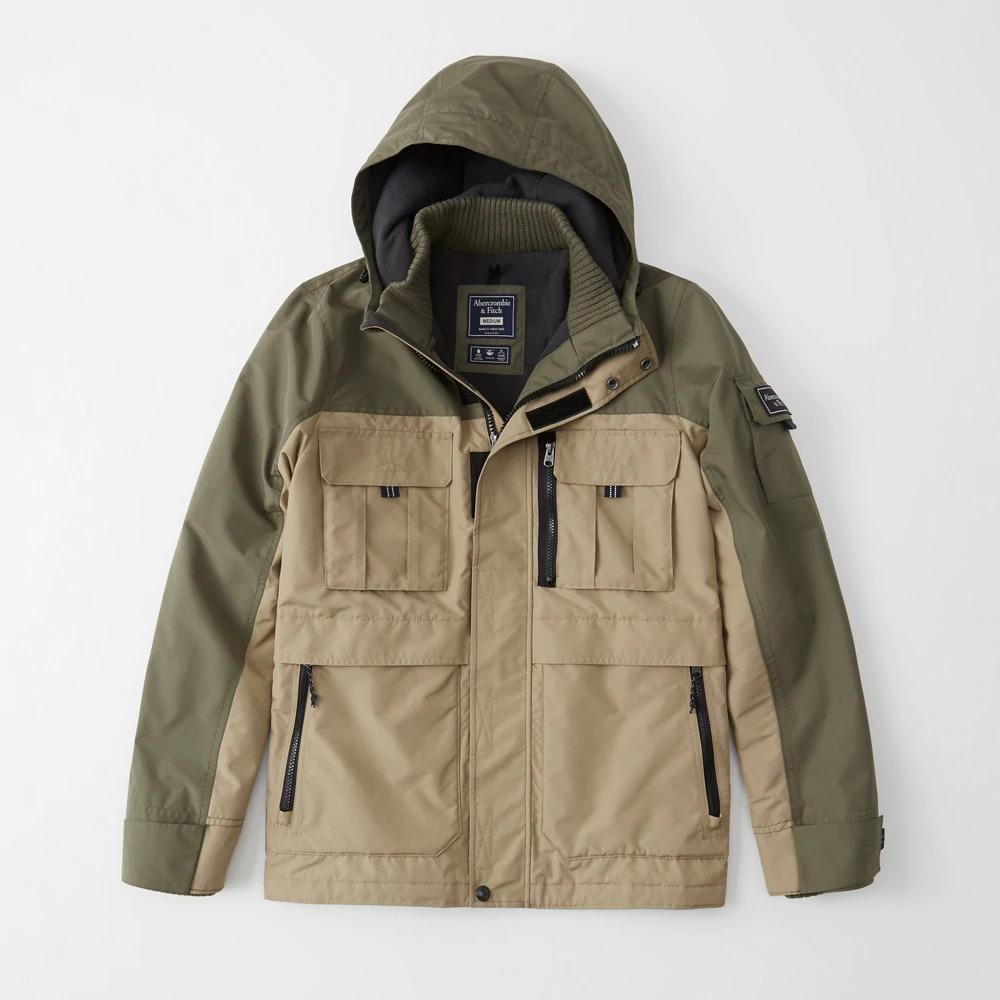 Abercrombie&Fitch (アバクロンビー&フィッチ) クライメイト テック ジャケット(長袖)(Climate Tech Jacket) メンズ (Light Khaki) 新品