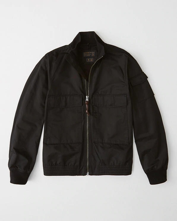 Abercrombie&Fitch (アバクロンビー&フィッチ) 正規品 ユーティリティーボンバージャケット (Utility Bomber Jacket) メンズ (Black) 新品