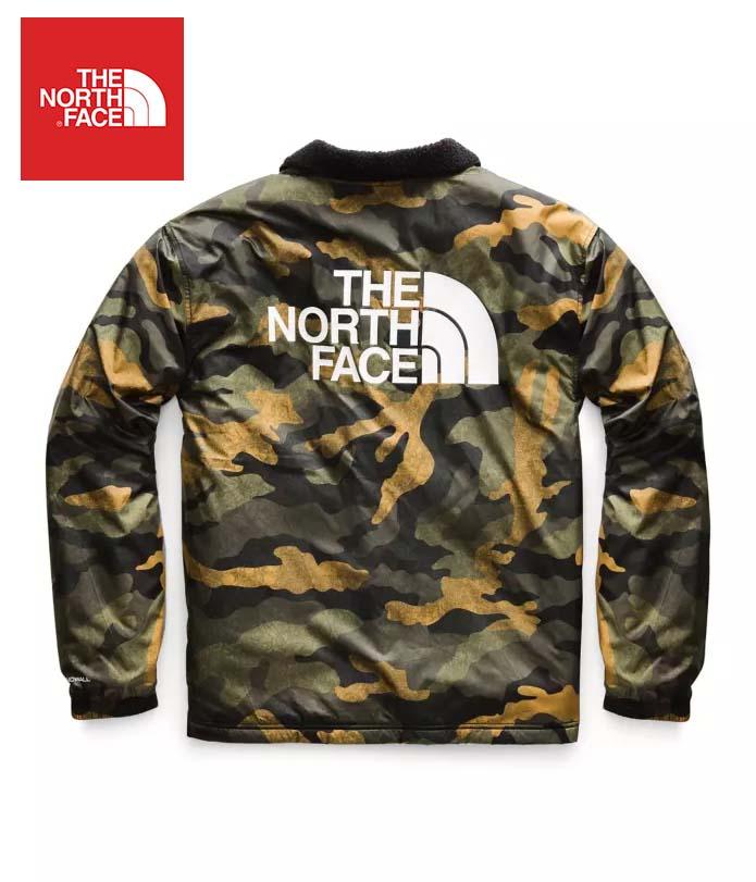 The North Face (ザ・ノースフェイス) 日本未発売 USAモデル フリースライニング テレグラフコーチジャケット (TELEGRAPHIC COACHES JACKET)メンズ (Camo) 撥水加工 新品