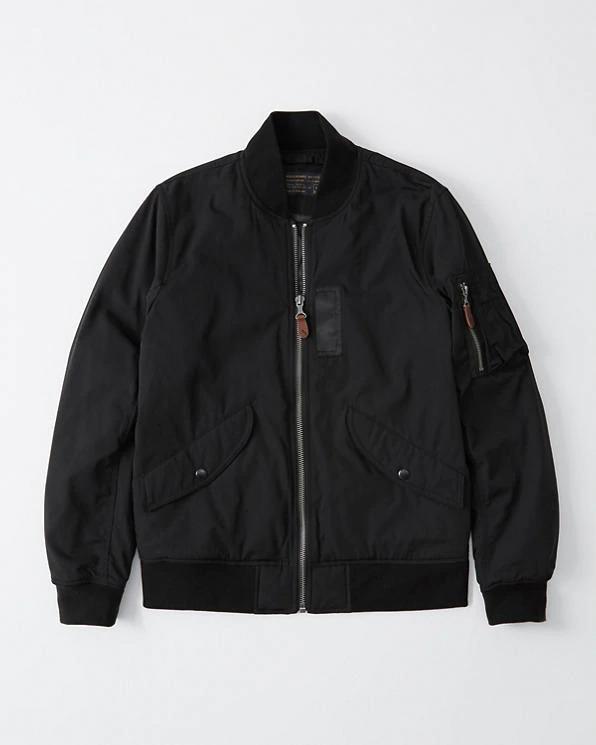 Abercrombie&Fitch (アバクロンビー&フィッチ) 正規品 ユーティリティーボンバージャケット (Military Bomber Jacket) メンズ (Black) 新品