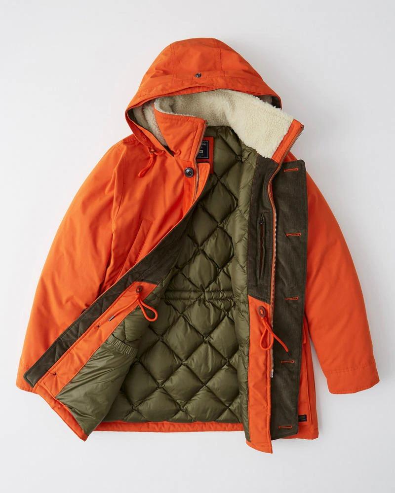 Abercrombie&Fitch (アバクロンビー&フィッチ) ウルトラ ダウンパーカー (Ultra Parka) メンズ (Orange) 新品