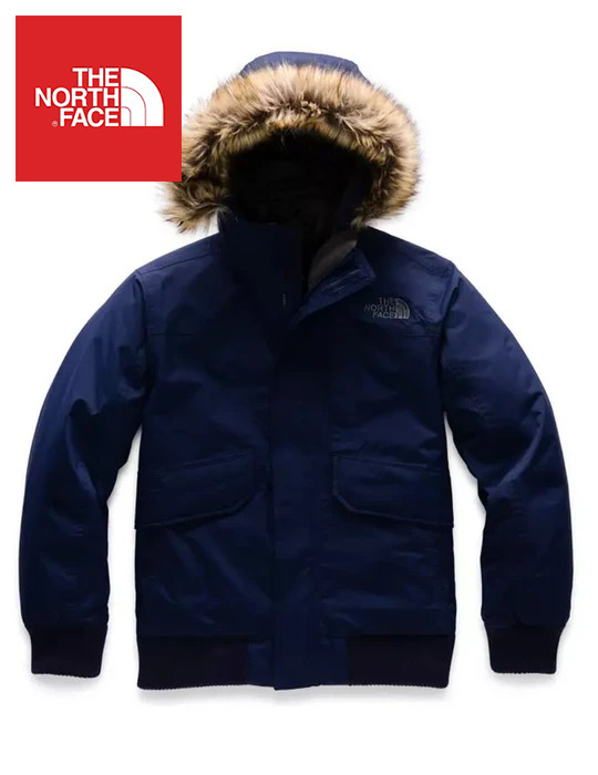 The North Face (ザ・ノースフェイス) 日本未発売 USAモデル R.D.S.認証 550フィル グースダウンジャケット (Gotham Down Jacket)キッズ (Montague Blue) 撥水加工 新品 日本未発売