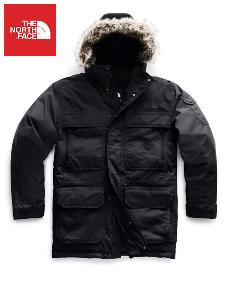 The North Face (ザ・ノースフェイス) 日本未発売 USAモデル 取り外し可能フード マクマードパーカー ダウンジャケット(Mcmurdo Parka)メンズ (Black) 撥水加工 新品