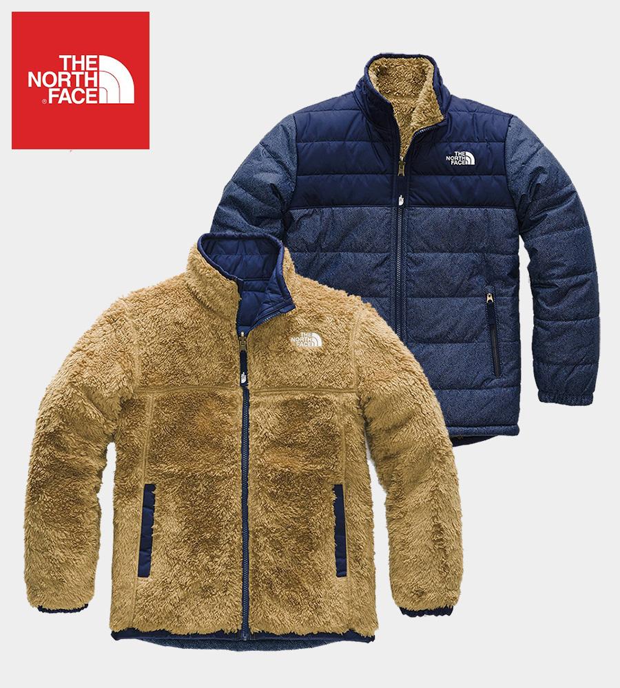 The North Face (ザ・ノースフェイス) 日本未発売 USAモデル リバーシブル マウント ジャケット (Reversible Mount Chimborazo Jacket)キッズ (Montagu Blue) 撥水加工 新品