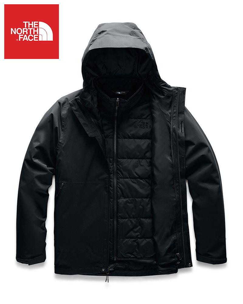 The North Face (ザ・ノースフェイス) 日本未発売 USAモデル クライメイトジャケット (CARTO TRICLIMATE® JACKET)メンズ (TNF BLACK / TNF BLACK) 撥水加工 新品