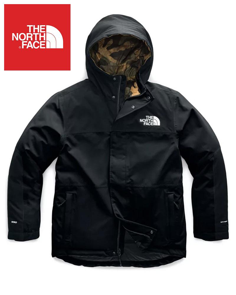 The North Face (ザ・ノースフェイス) 日本未発売 USAモデル バルハム インサレーテッド ジャケット(Balham Insulated Jacket)メンズ (Black/Burnt Olive Green Waxed Camo Print) 撥水加工 新品