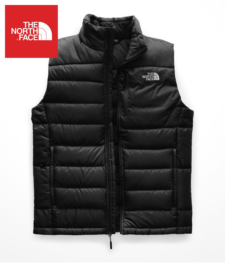 The North Face (ザ・ノースフェイス) 日本未発売 USAモデル D.S.A認証 550フィル アコンカグア グースダウンベスト (Aconcagua Goose Down Vest)メンズ (Black) 撥水加工 新品