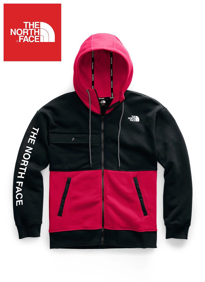 The North Face (ザ・ノースフェイス) ロゴグラフィック フルジップパーカー(Nse Graphic Zip Hoodie)メンズ (Red) 新品