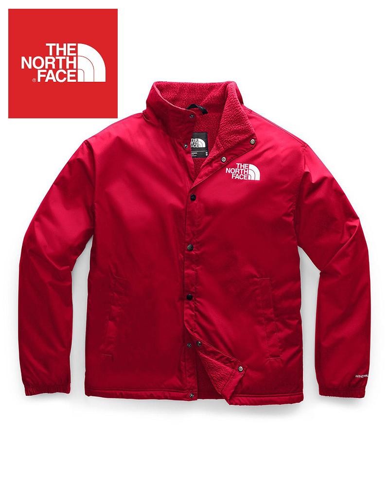 The North Face (ザ・ノースフェイス) 日本未発売 USAモデル フリースライニング テレグラフコーチジャケット (TELEGRAPHIC COACHES JACKET)メンズ (TNF RED) 撥水加工 新品
