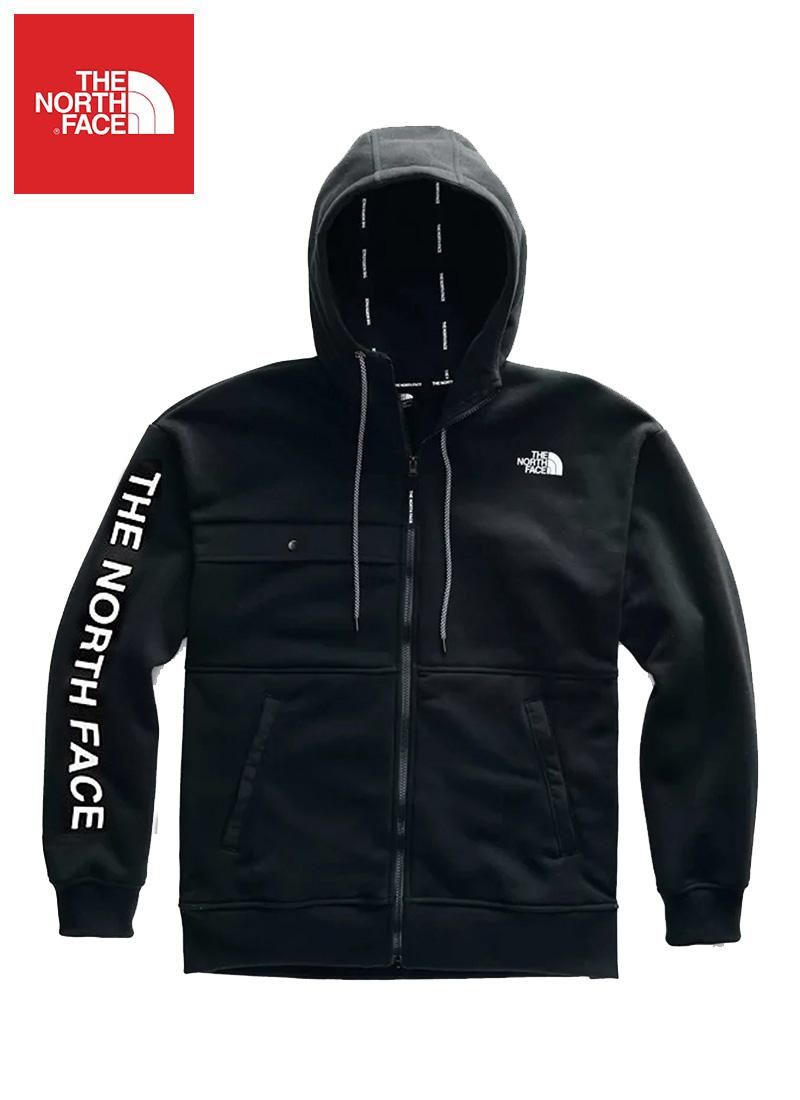 The North Face (ザ・ノースフェイス) ロゴグラフィック フルジップパーカー(Nse Graphic Zip Hoodie)メンズ (Black) 新品