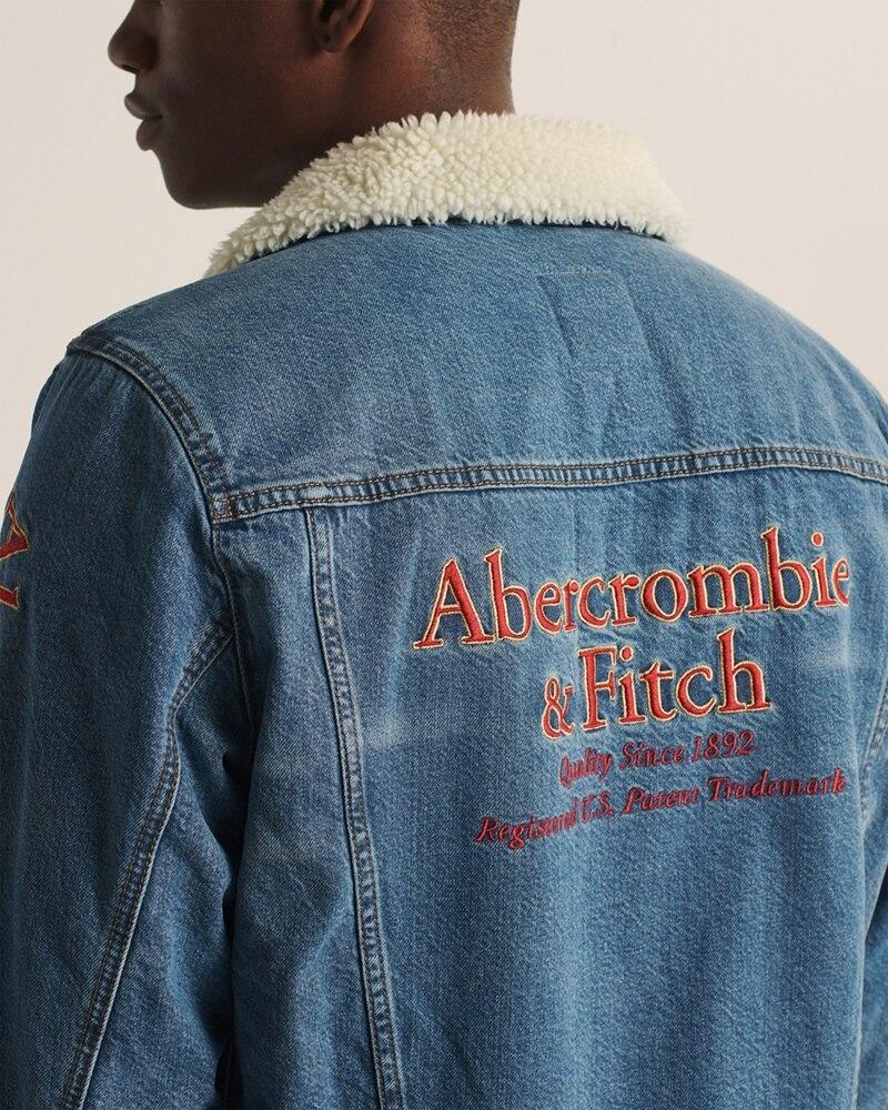 Abercrombie&Fitch (アバクロンビー&フィッチ) 裏ボア デニム ジャケット (Limited Edition Sherpa-Lined Denim Jacket) メンズ (Medium Wash) 新品