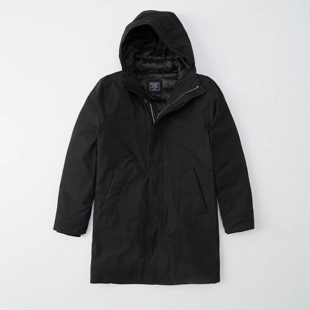Abercrombie&Fitch (アバクロンビー&フィッチ) リファインドパーカー (Refined Parka) メンズ (Black) 新品
