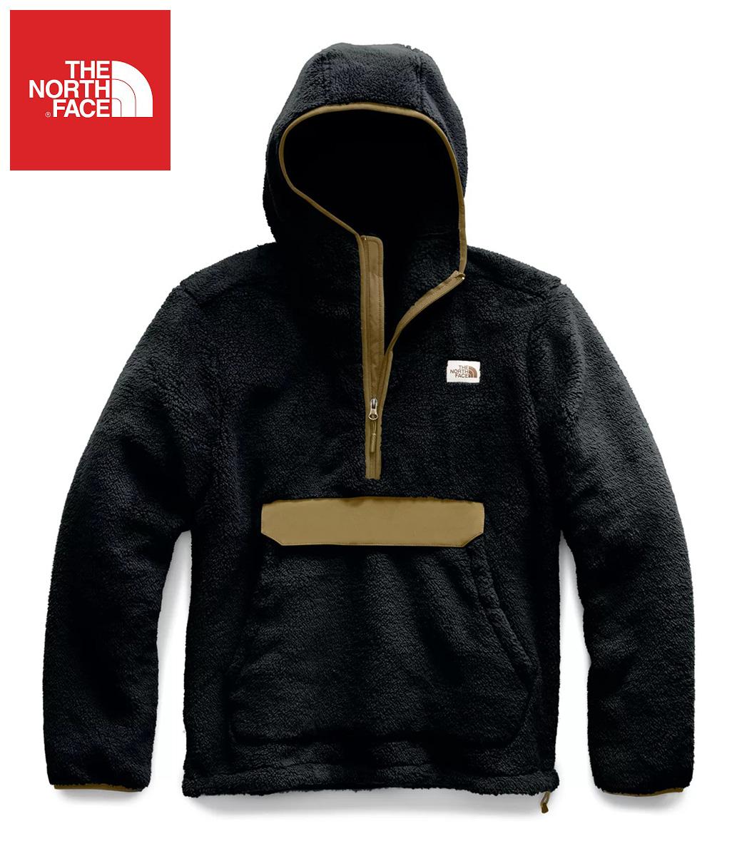 The North Face (ザ・ノースフェイス) 日本未発売 USAモデル ハーフジップレトロフリース ジャケット(Campshire Pullover Hoodie)メンズ (Black/Britishkhaki)新品