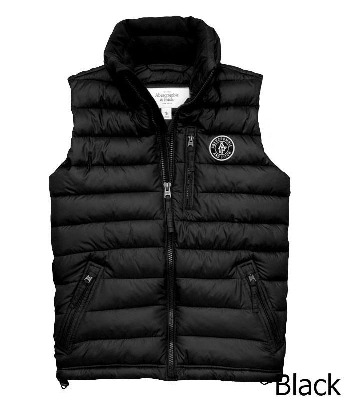 Abercrombie&Fitch (アバクロンビー&フィッチ) クリマフィル キルティングベスト (Jay Range Packable Puffer Vest) メンズ (Black) 新品