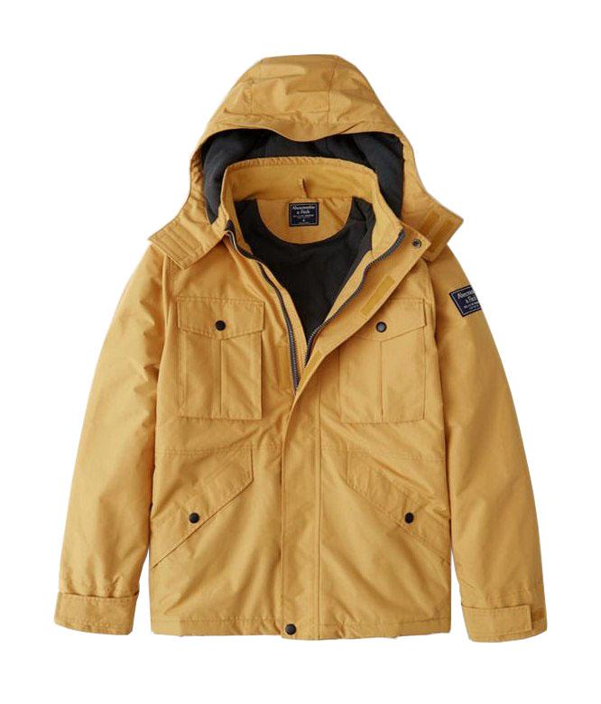 Abercrombie&Fitch (アバクロンビー&フィッチ) ミッドウェイト テクニカルジャケット(長袖)(Midweight Technical Jacket) メンズ (Yellow) 新品