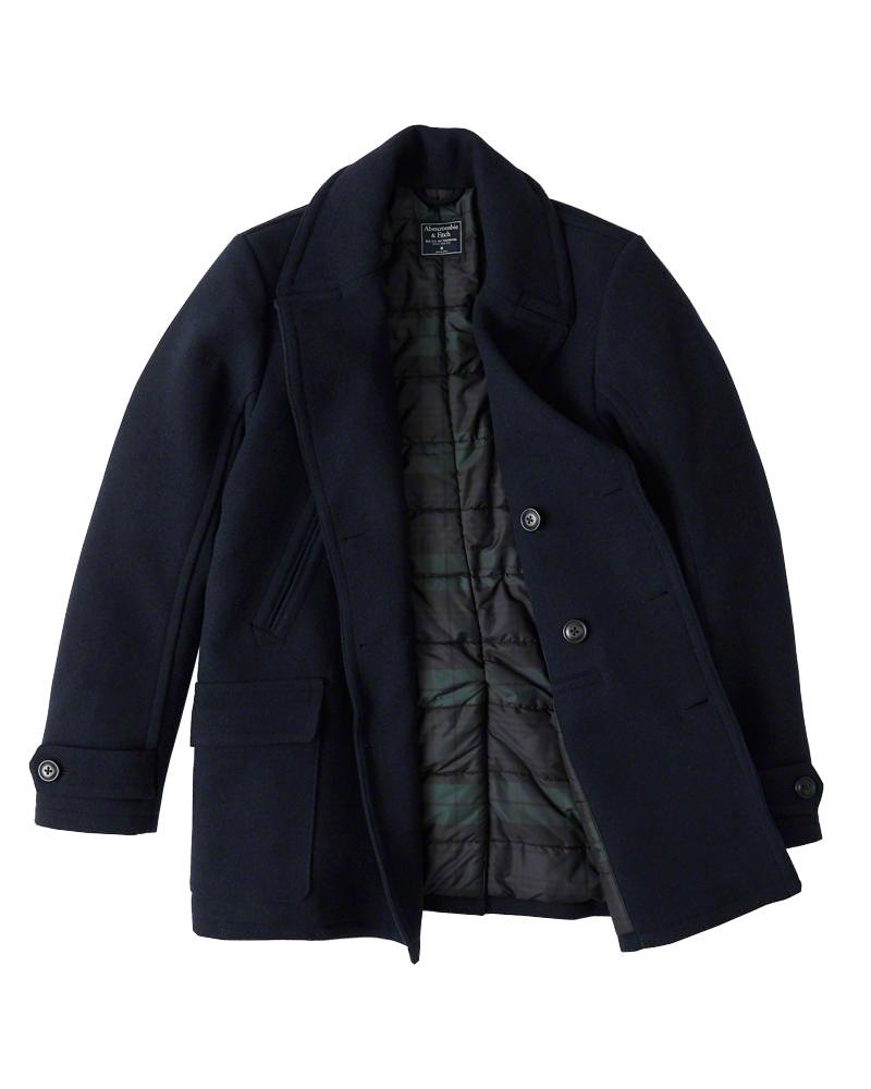 Abercrombie&Fitch (アバクロンビー&フィッチ) クラッシック ピーコート (Classic Peacoat) メンズ (Navy Blue) 新品