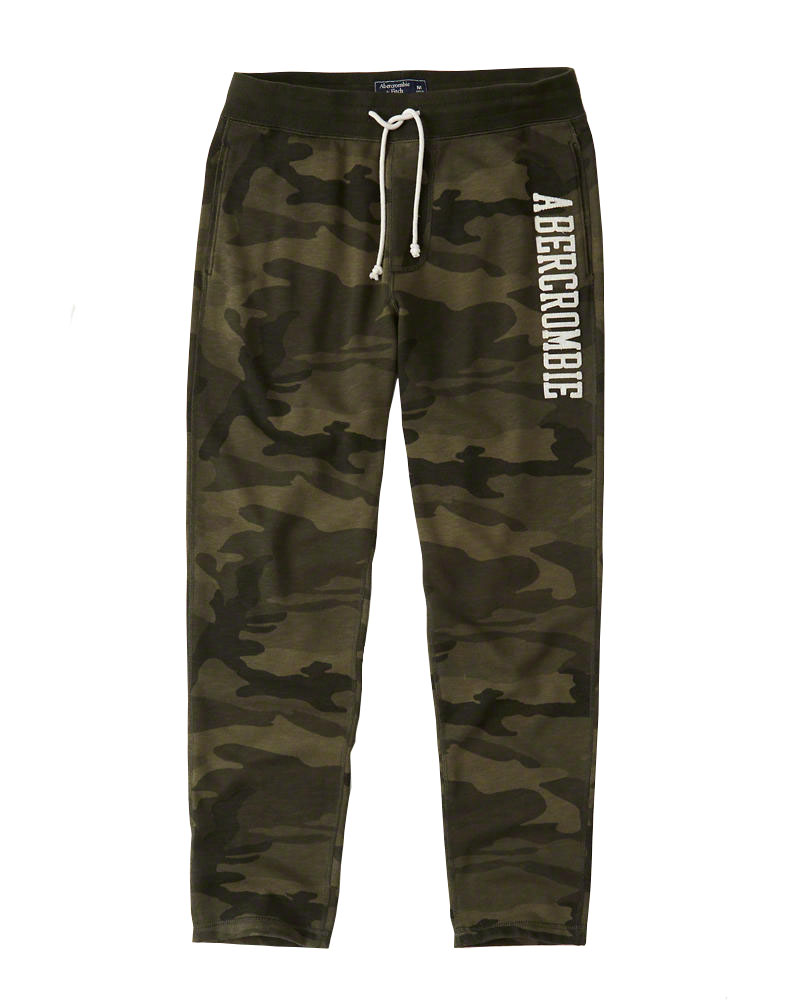 Abercrombie&Fitch (アバクロンビー&フィッチ) クラシックロゴ スエットパンツ (Classic Logo Sweatpants) メンズ (Olive Green Camo) 新品