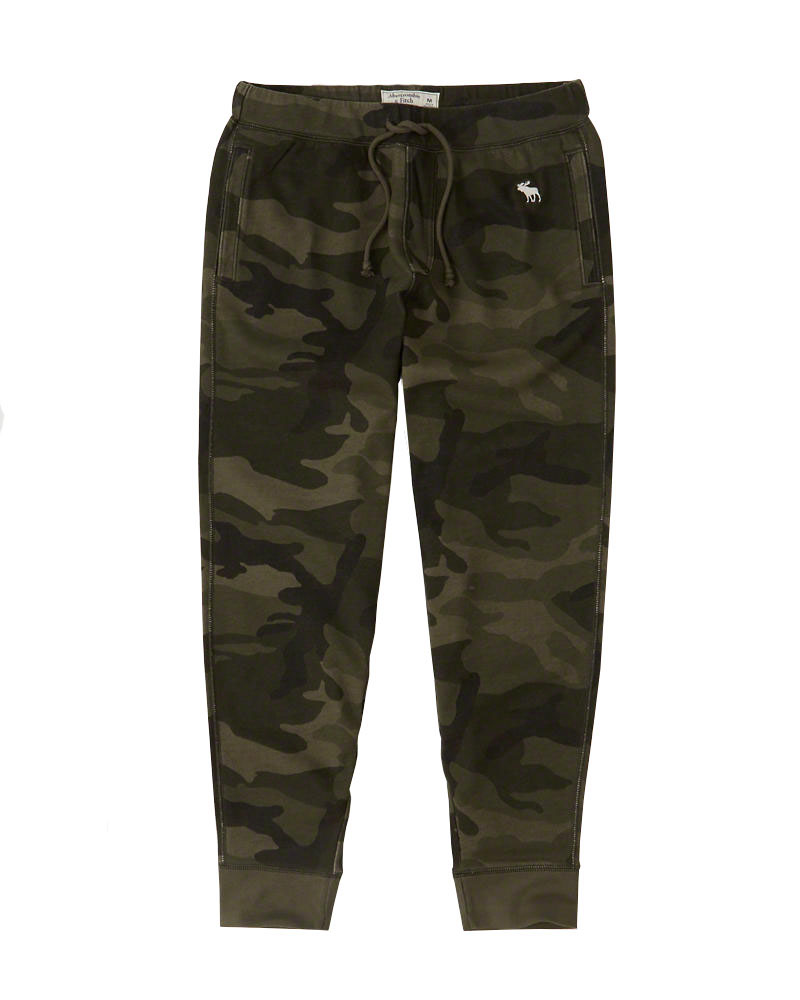 Abercrombie&Fitch (アバクロンビー&フィッチ) ジョガーアクティブパンツ (スエットパンツ) (Fleece Joggers) メンズ (Olive Camo) 新品