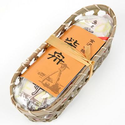 今屋の金沢銘菓 おせんべい 今屋 柴舟 絶品 籠入り 特価品コーナー☆ 10枚 040019