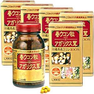 金秀バイオ 春ウコン粒+アガリクス茸 (5個セット) 180081