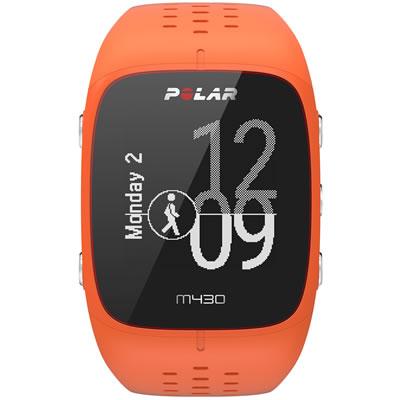 POLAR(ポラール) 手首型6LED光学式心拍計・GPSランニングウォッチ M/Lサイズ M430 <オレンジ> 0725882038803
