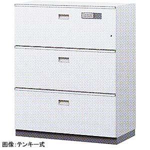 ITOKI(イトーキ) シンラインセーフ 大引出し3段型耐火キャビネット<小判錠> GEM-10ECN3