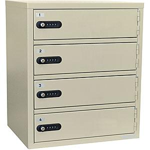 EIKO(エーコー) 貴重品保管庫<数字合わせ式>1列4段4人用 LK-308-4