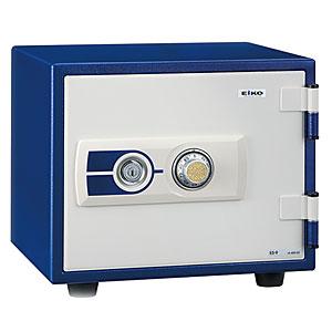 【据付設置費無料】EIKO(エーコー)耐火金庫<ダイヤル>ブルー ES-9BL 600482【送料無料】