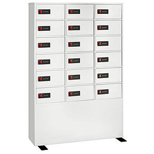 【据付設置費無料】EIKO(エーコー)貴重品保管庫 ReZERO LOCK<数字合わせ式>3列6段 18人用 LK-418 830575【送料無料】