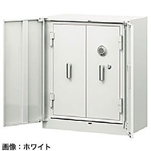 ITOKI(イトーキ) シンラインキャビネット耐火金庫組込型<ダイヤル>ホワイトグレーW HFM-098HEN4-WE
