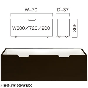 ストッカー(W600×D600) 木製ダーク (1台入) BC301A60D06