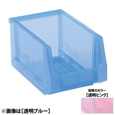 産業用品-プラスチックコンテナ 代引き不可 コンテナボックス スタンダードタイプ 時間指定不可 TB-3 透明ピンク