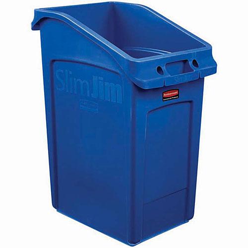 2020新作 カウンター下スペースを有効活用するゴミ箱 ラバーメイド Vented Slim Jimアンダーカウンター 青 2026725 0086876237733 SALE開催中 87L