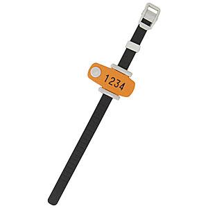スポーツクラブやスパなどに最適なキーオメイト エーコー キー オ 無地 ハトメG型 予約販売品 メイトRT型 国産品 オレンジ