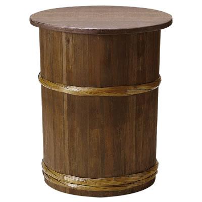 樽型ディスプレイテーブル(天板木製) 43225 [送料別途] 432257
