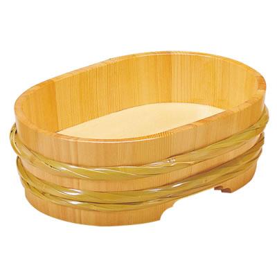 サワラ・竹 飾桶<クリアー> 小判型 42104 421046
