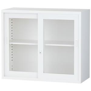 [ALZ]ガラス引戸書庫 幅880×奥行380×高さ750mm
