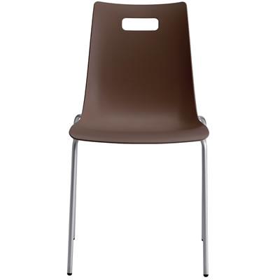タルダチェア Talda Chair 定番から日本未入荷 カフェ用カラフルチェア ダークブラウン お中元 スタッキング機能付 シルバーフレーム