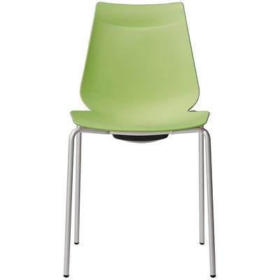 アノアチェア 祝日 Anoa Chair マーケティング カフェ用背面ハンドル付パステルチェア スタッキング機能付 シルバーフレーム グリーン