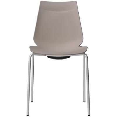 アノアチェア Anoa Chair カフェ用背面ハンドル付パステルチェア ●日本正規品● グレージュ シルバーフレーム スタッキング機能付 ストア