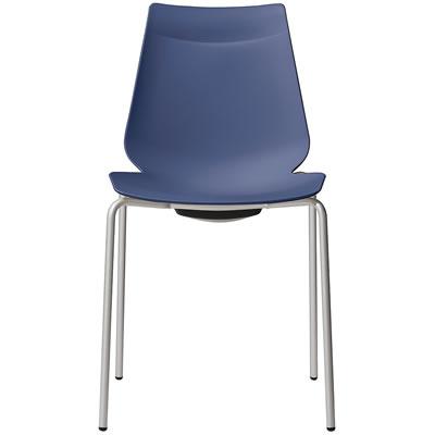 アノアチェア 代引き不可 Anoa Chair カフェ用背面ハンドル付パステルチェア スタッキング機能付 シルバーフレーム ネイビー 全店販売中