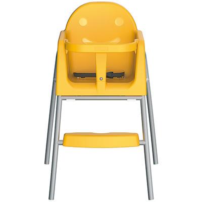 子ども椅子・キッズチェア スタッキング機能付 <イエロー>