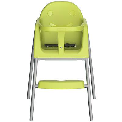 子ども椅子・キッズチェア スタッキング機能付 <イエローグリーン>