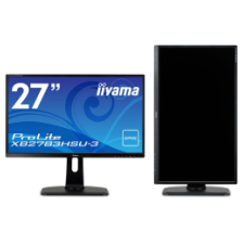 【送料無料】iiyama 27型ワイド液晶ディスプレイ ProLite XB2783HSU-3 (AMVA+/フルHD/DP/HDMI/D-SUB/USBハブ付/昇降/回転/スウィーベル) ブラック XB2783HSU-B3