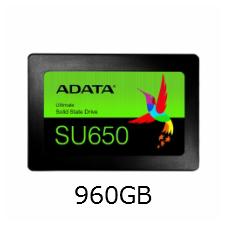【送料無料】ADATA Ultimate SU650 2.5インチSSD 960GB SATA 7mm 3D NAND採用 3年保証 Read(MAX)520/ Write(MAX)450MB/s ASU650SS-960GT-X